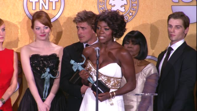 Viola Davis on the event and on her beating Meryl Streep for the SAG Award for Female Actor in a Lead Role at 18th Annual Screen Actors Guild Awards...