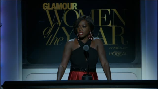 SPEECH Viola Davis presents an award at Glamour Magazine's 25th Annual Women Of The Year Awards at Carnegie Hall on November 09 2015 in New York City