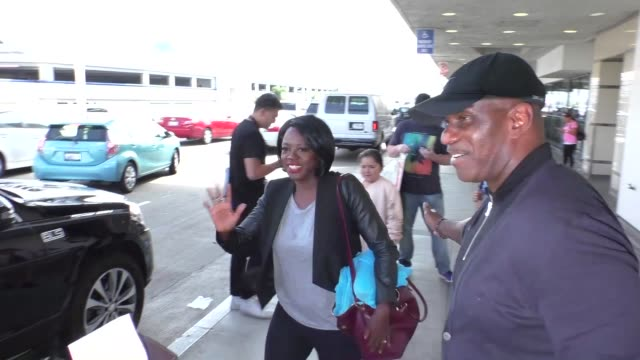 INTERVIEW Viola Davis talks about Suicide Squad Premiere while arriving at LAX Airport Celebrity Sightings on August 2 2016 in Los Angeles California