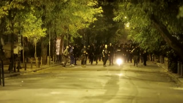 Violence erupted late Wednesday in an Athens district following demonstrations marking the anniversary of a student's death Thousands of young men...