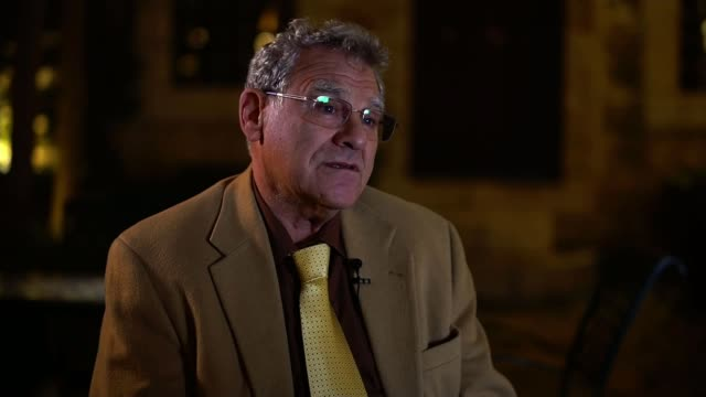 Violence follows US recognition of Jerusalem as the capital of Israel Location unknown INT Professor Efraim Inbar interview SOT Palestinian man using...