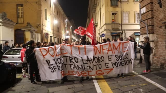 violent clashes between demonstrators and police during a demonstration against g7 meeting in venaria italy on september 29 2017 - piedmont italy stock videos & royalty-free footage