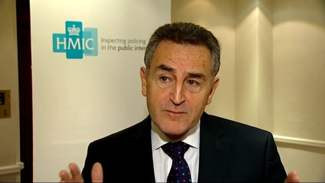 Violent crime statisitics wrongly recorded by police forces ENGLAND London INT Denis O'Connor interview SOT