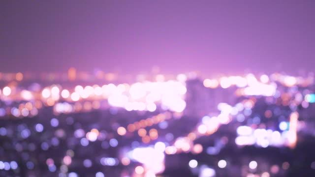 violet city scape