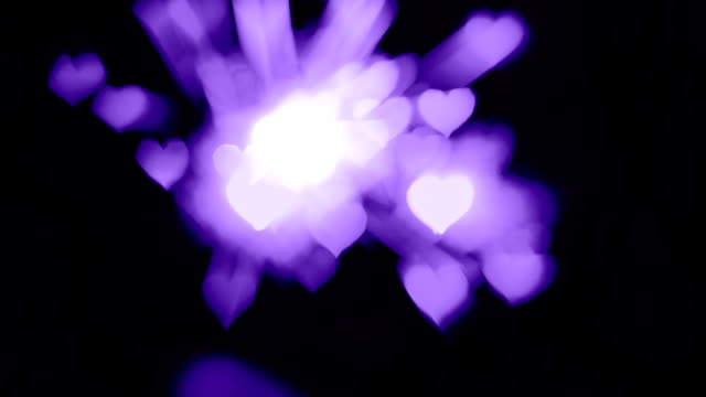 Violet heart bokeh background, Color of the year 2018
