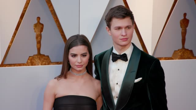 Violetta Komyshan and Ansel Elgort at 90th Academy Awards Arrivals at Dolby Theatre on March 04 2018 in Hollywood California