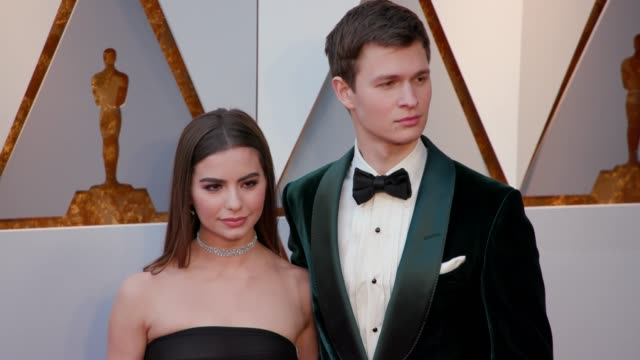 Violetta Komyshan and Ansel Elgort at Dolby Theatre on March 04 2018 in Hollywood California