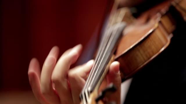 Violine auf einem Konzert