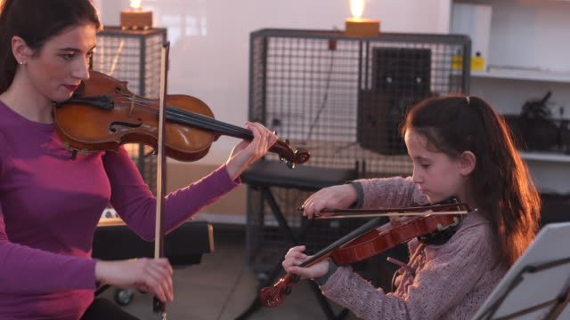 violin lesson - trainer stock videos & royalty-free footage