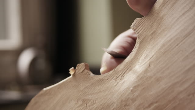 Violin Maker carving