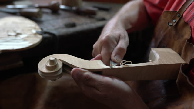 violin maker in his workshop - craft stock videos & royalty-free footage