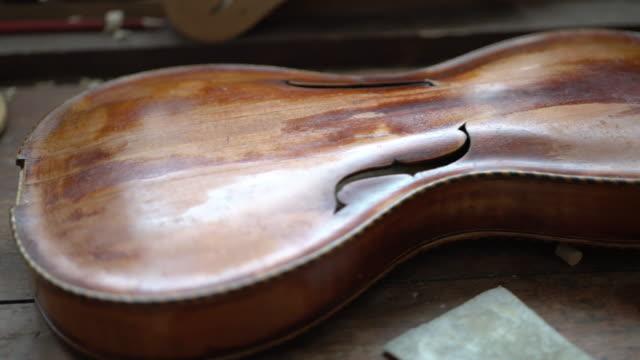 Violin Maker in his Workshop