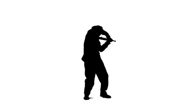 vídeos de stock, filmes e b-roll de violinistas - in silhouette