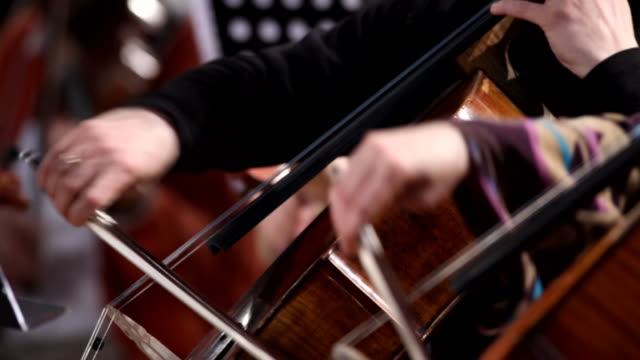 violoncello players - orchestra stock videos & royalty-free footage