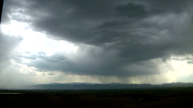 virga and downbursts, timelapse - evaporation stock videos & royalty-free footage