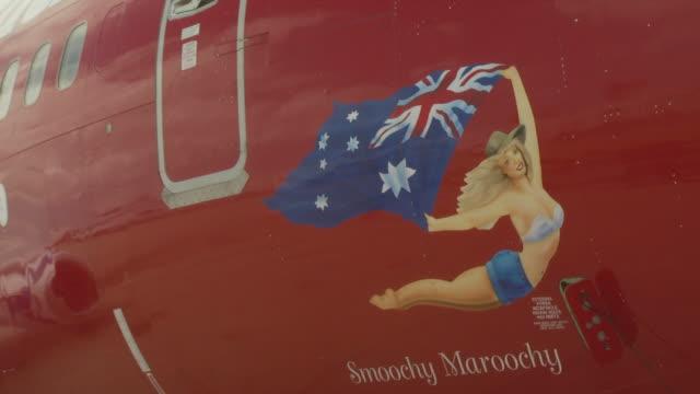 virgin blue boeing 737-800 at airport, australia - symbol stock videos & royalty-free footage