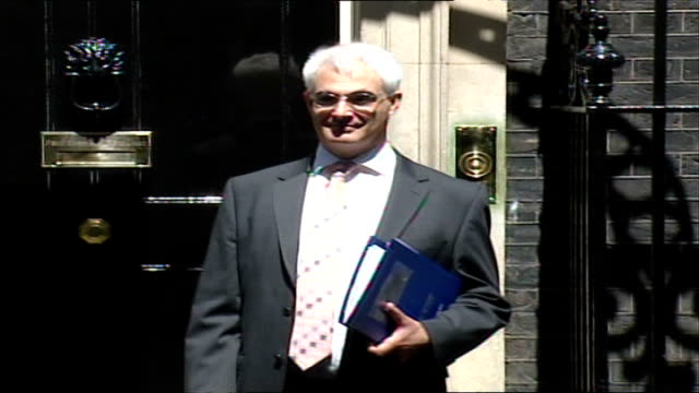 virgin group named as preferred buyer for northern rock bank london downing street alistair darling mp leaving number 10 and getting into car - alistair darling stock videos & royalty-free footage
