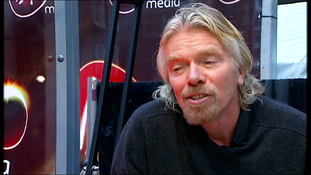 virgin media to launch new services int richard branson interview sot because of murdoch's dominance of the press and certain aspects of television... - apt stock videos and b-roll footage