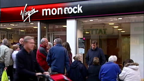 virgin money name overlaid over northern rock bank sign - banking sign stock videos & royalty-free footage