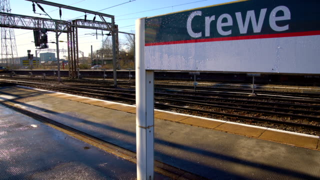 virgin/freight/arriva trains travel along the west coast main line at crewe cheshire on february 7 2018 in crewe england - cheshire england stock videos & royalty-free footage