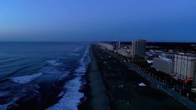 virginia beach at sunrise - virginia beach stock videos & royalty-free footage