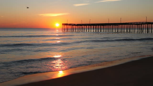 virginia beach - pier stock videos & royalty-free footage