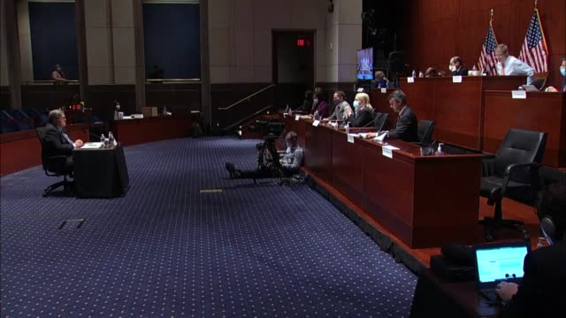 virginia congressman ben cline asks attorney general bill barr at a house judiciary committee hearing about surveillance unmasking were a list of 39... - {{relatedsearchurl(carousel.phrase)}} stock-videos und b-roll-filmmaterial