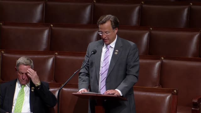 virginia congressman dave brat says the american people are sick and tired of the double standard shown to the clintons that sufficient evidence of... - amok stock-videos und b-roll-filmmaterial