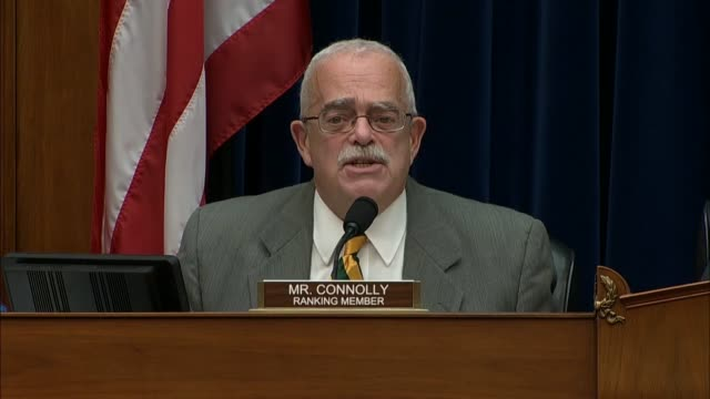vídeos de stock, filmes e b-roll de virginia congressman gerald connolly of virginia says at a house oversight and government reform subcommittee hearing to review the tax status and... - lawsuit