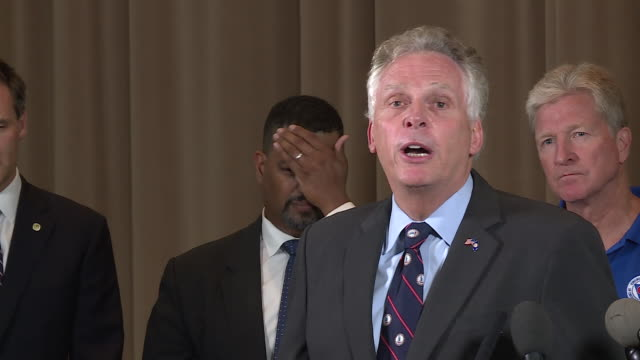 vidéos et rushes de wtvr virginia governor addresses hate groups asks them to leave charlottesville after clashes between unite the right rally participants and... - armée des états confédérés