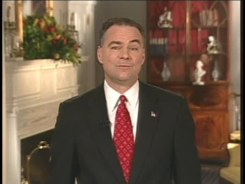 virginia governor tim kaine discusses u.s. defense. - united states and (politics or government) stock videos & royalty-free footage