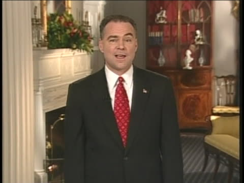 virginia governor tim kaine mourns the passing of coretta scott king in his response to us president george w. bush's state of the union address. - virginia us state stock videos & royalty-free footage