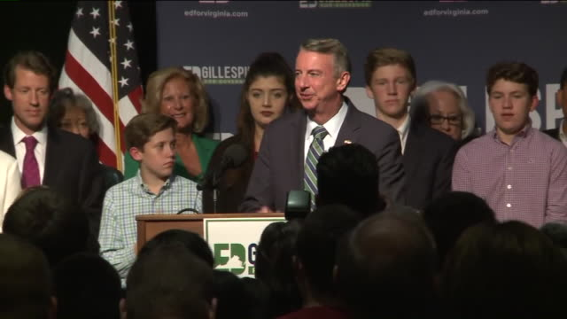 WTVR Virginia gubernatorial candidate Ed Gillespie delivered his concession speech at his campaign's headquarters in the state capital of Richmond on...