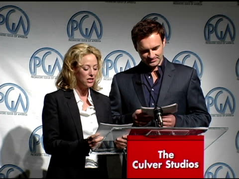 virginia madsen and julian mcmahon at the 2005 producers guild of america awards nomination announcements at culver studios in culver city,... - virginia madsen stock videos & royalty-free footage