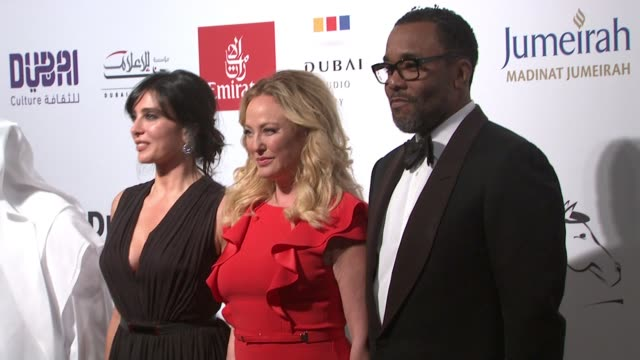 virginia madsen and lee daniels at the opening night red carpet - 11th annual dubai international film festival at madinat jumeirah on december 09,... - virginia madsen stock videos & royalty-free footage