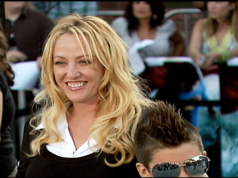 virginia madsen and son at the 'superman returns' premiere at the mann village theatre in westwood california on june 21 2006 - virginia madsen stock videos & royalty-free footage