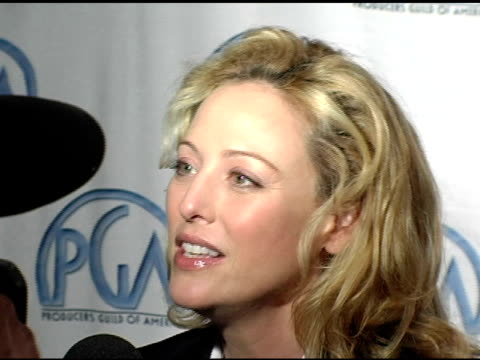 virginia madsen at the 2005 producers guild of america awards nomination announcements at culver studios in culver city, california on january 5,... - virginia madsen stock videos & royalty-free footage