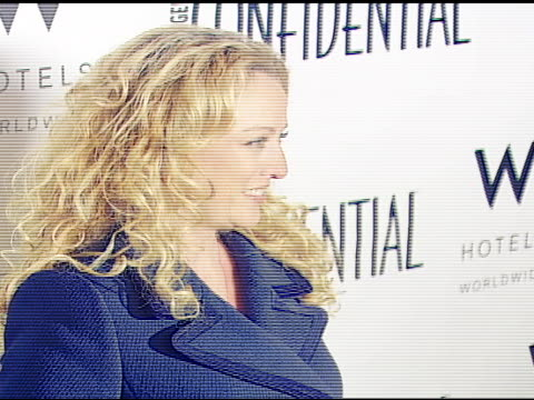 virginia madsen at the confidential 2007 pre-golden globes party honoring penelope cruz at the whiskey blue at w hotel in los angeles, california on... - virginia madsen stock videos & royalty-free footage