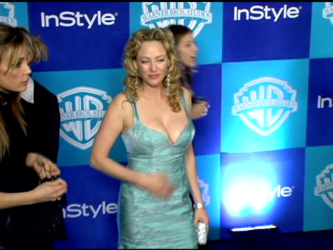virginia madsen at the instyle/warner brothers golden globes party at the beverly hilton in beverly hills, california on january 16, 2006. - virginia madsen stock videos & royalty-free footage