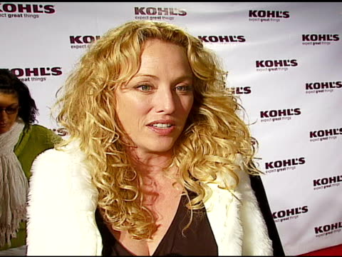 virginia madsen at the kohl's and conde nast media group present the kohl's transformation nation fall fashion show at santa monica pier in santa... - conde nast media group stock videos & royalty-free footage