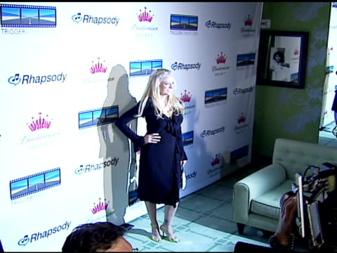 virginia madsen at the launch of the new triggerstreet com and their latest venture with budweiser select at social hollywood in hollywood california... - virginia madsen stock videos & royalty-free footage
