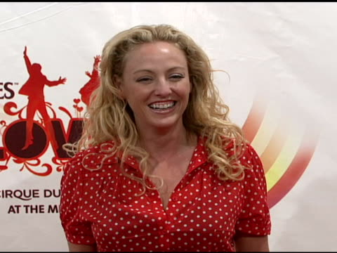 virginia madsen at the love: cirque du soleil celebratation of the musical legacy of the beatles at the mirage hotel and casino in las vegas, nevada... - virginia madsen stock videos & royalty-free footage