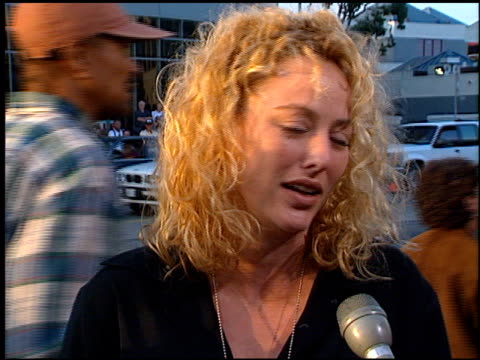 virginia madsen at the 'men in black' premiere at the cinerama dome at arclight cinemas in hollywood, california on june 25, 1997. - virginia madsen stock videos & royalty-free footage