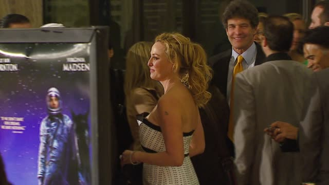 virginia madsen at the 'the astronaut farmer' premiere at the cinerama dome at arclight cinemas in hollywood, california on february 20, 2007. - virginia madsen stock videos & royalty-free footage