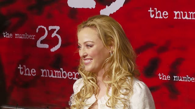virginia madsen at the 'the number 23' premiere at the orpheum in los angeles, california on february 13, 2007. - virginia madsen stock videos & royalty-free footage