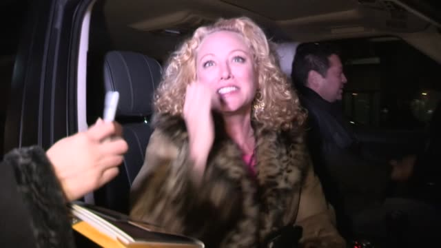 virginia madsen greets fans at mr chow in beverly hills 02/21/13 - virginia madsen stock videos & royalty-free footage