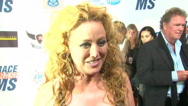 virginia madsen on being a part of the night and supporting race to erase if she watched the royal wedding and what she thought at the the 18th... - virginia madsen stock videos & royalty-free footage