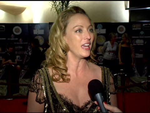 virginia madsen on presenting to michael london, why she is so excited about that opportunity, what michael has done as a producer to earn the... - virginia madsen stock videos & royalty-free footage