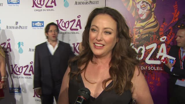 virginia madsen on the event cirque du soleil at the kooza opening night gala to benefit the one drop foundation heal the bay at santa monica ca - virginia madsen stock videos & royalty-free footage