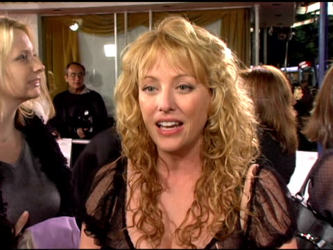 virginia madsen on what she is working on and what she will be doing for the holidays at the 'the family stone' premiere at the mann village theatre... - virginia madsen stock videos & royalty-free footage